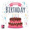 وکتور زیبای کیک تولد مناسب کارت تولد