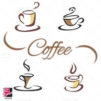 طرح وکتور با دست کشیده شده لیوان قهوه