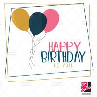 طرح لایه وکتور بادکنک و تبریک تولد
