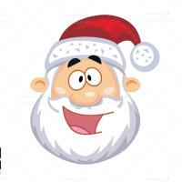 دانلود طرح وکتور صورت بابانوئل