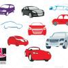مجموعه وکتور انیمیشن اتومبیل ها