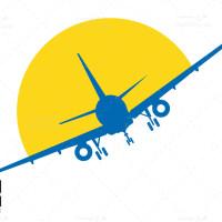 دانلود طرح وکتور خورشید و هواپیما