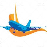دانلود طرح لایه باز وکتور هواپیمایی