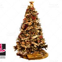 دانلود طرح لایه باز وکتور درخت کریسمس