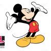 وکتور لایه باز شخصیت کارتونی میکی موس