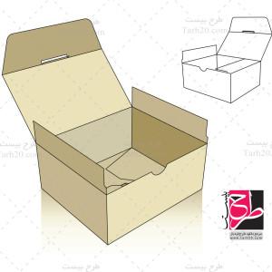 دانلود طرح قالب جعبه مکعبی (کفش)