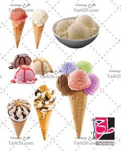 مجموعه تصاویر PNG بستنی