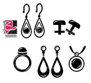 مجموعه آیکون جواهرات