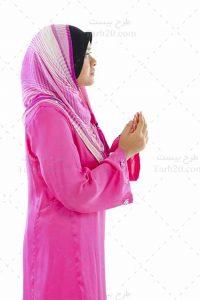عکس دختر مسلمان در حال دعا