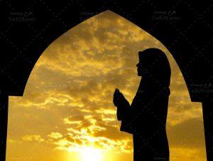 تصویر دعای زن مسلمان