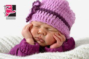 تصویر با کیفیت نوزاد خوابیده