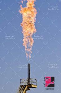 عکس دکل گازی