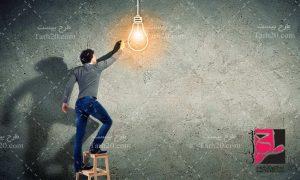 تصویر با کیفیت روشن کردن لامپ