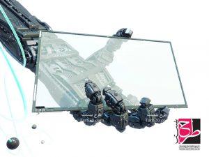 تصویر صفحه نمایش در دست ربات