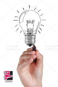 عکس نقاشی لامپ