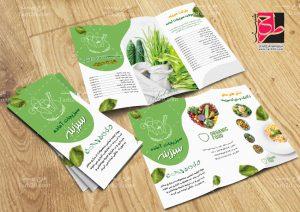 طرح بروشور سبزیجات آماده