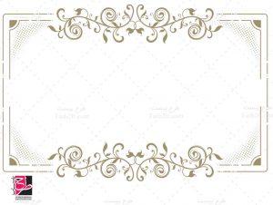 حاشیه طلایی گل و بوته