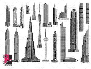 وکتور برج های جهان