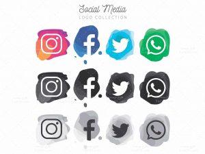 لوگو شبکه های اجتماعی